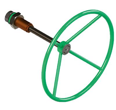Actuador neumático efecto simple GS Heavy Duty de acero al carbono - accesorios - COMANDO MANUAL DE EMERGENCIA CON TORNILLO PARA ACTUADOR SIMPLE EFECTO