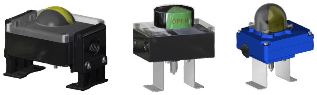 Actuador neumático efecto simple GS 40 PSI ÷ 2,8 bar - accesorios - CAJA DE SEÑALIZACIÓN CON TOPE