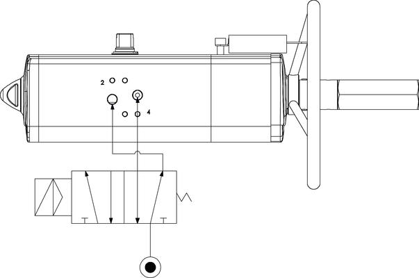 Actuador neumático efecto doble GDV con comando manual integrado - especificaciones -