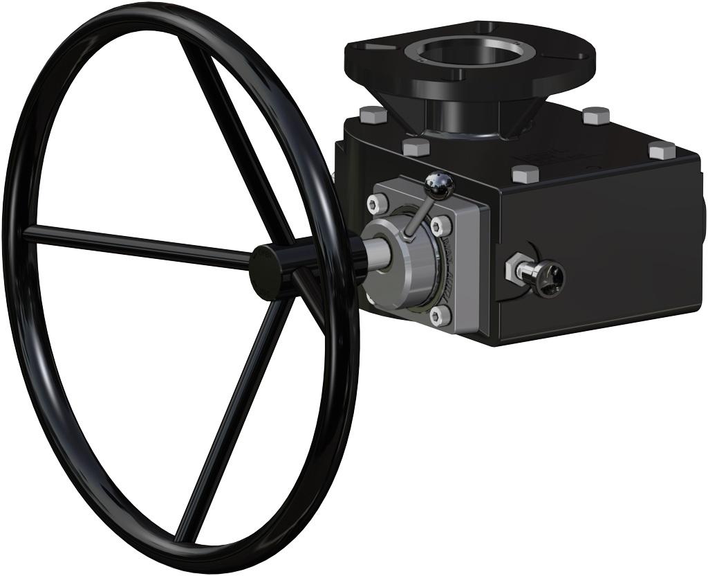 Actuador neumático efecto simple GS 40 PSI ÷ 2,8 bar - accesorios - OPERADOR MANUAL DE DESBLOQUEO