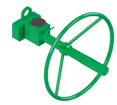 Actuador neumático efecto doble GD Heavy Duty de acero al carbono - accesorios - COMANDO MANUAL DE EMERGENCIA DESCONECTABLE PARA ACTUADOR DOBLE EFECTO