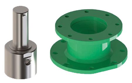 Actuador neumático efecto simple GS Heavy Duty de acero al carbono - accesorios - Conector - Ranura