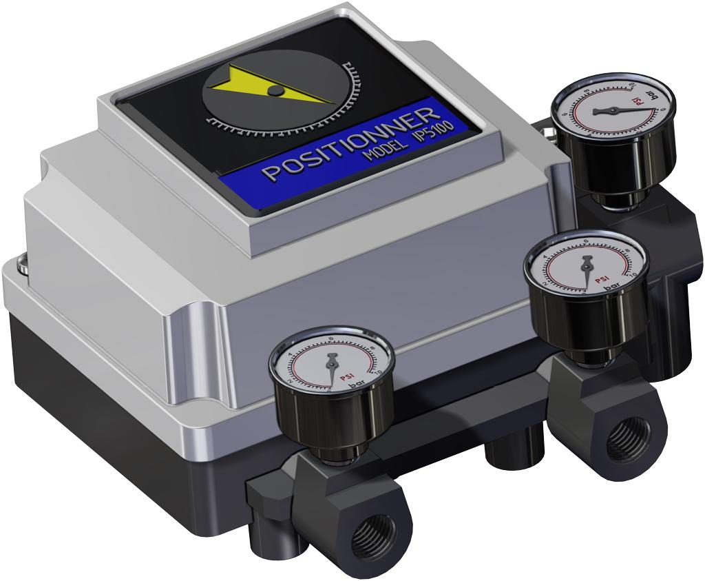 Actuador neumático efecto simple GS 40 PSI ÷ 2,8 bar - accesorios - POSICIONADOR NEUMÁTICO
